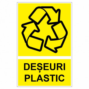 Sticker indicator Deseuri plastic