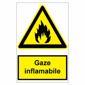 Sticker indicator Gaze inflamabile