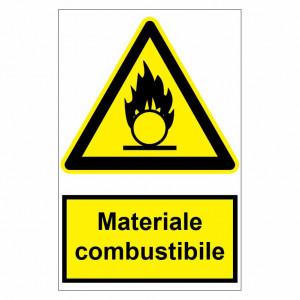 Sticker indicator Materiale combustibile