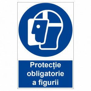 Sticker indicator Protectie obligatorie a figurii