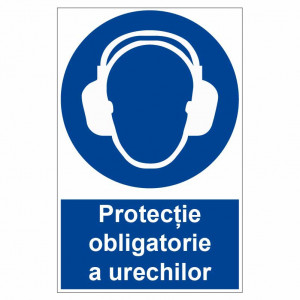 Sticker indicator Protectie obligatorie a urechilor