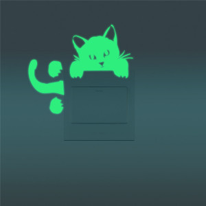 Sticker intrerupator Glow in the Dark Cat