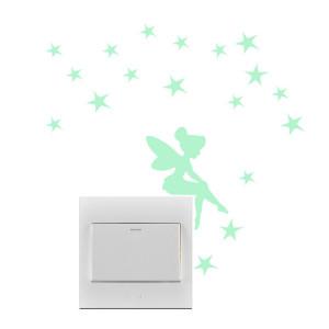 Sticker intrerupator Glow in the Dark Fairy