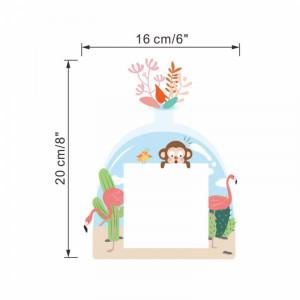 Sticker intrerupator Teacup Maimuta si flamingo