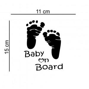 Sticker masina Baby on Board 15x11 cm