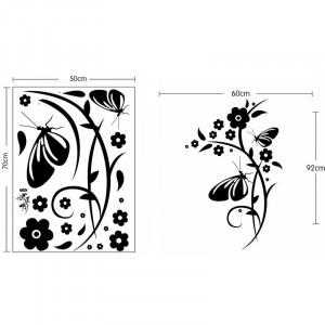 Sticker perete Black Flower Decor 8