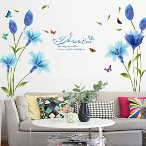 Sticker perete Blue Lily 60x90 cm