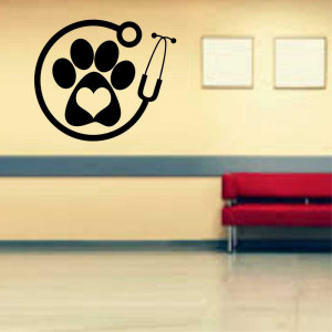 Sticker perete Clinica Veterinara 2