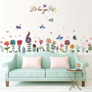 Sticker perete Colourful Flowers