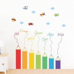 Sticker perete Creioane Colorate
