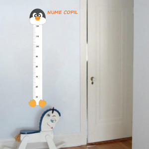 Sticker metru masurare inaltime copii Pinguin 3