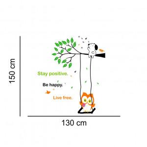 Sticker perete Life is Sweet - Owl