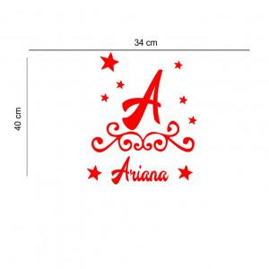 Sticker perete personalizat My Name Girl 12