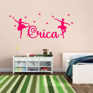 Sticker perete personalizat My Name Girl 17