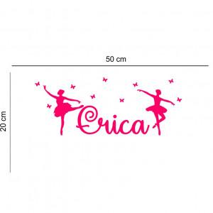 Sticker perete personalizat My Name Girl 17