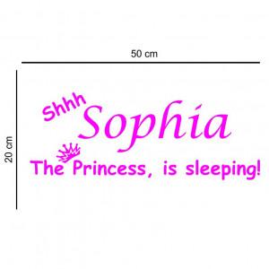 Sticker perete personalizat My Name Girl 6
