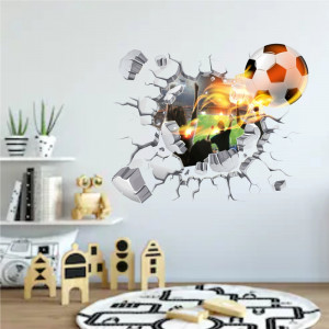 Sticker perete Power Ball 3D 57 x 70 cm