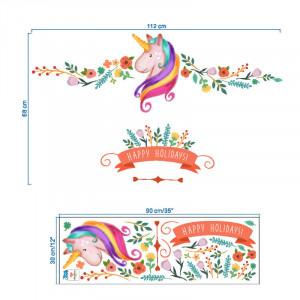 Sticker perete Rainbow Unicorn