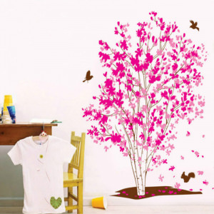 Sticker perete Romantic Dreaming Tree