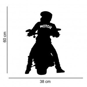Sticker perete Silueta biker