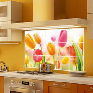 Sticker perete Tulips Kitchen Decor