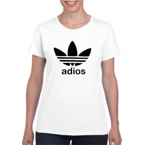 Tricou personalizat dama alb Adios