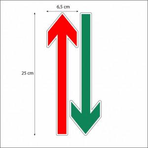 Sageti de directie podea set 12 buc rosu verde 2
