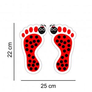 Set stickere podea Picioruse Buburuza