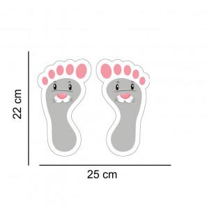 Set stickere podea Picioruse Iepuras