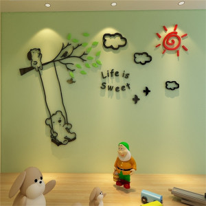 Sticker acrilic 3D Life is Sweet 200x136cm