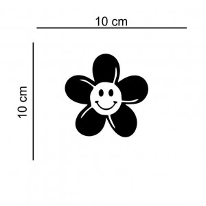 Sticker auto Floare Zambitoare