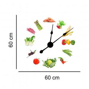 Sticker decorativ ceas cu legume
