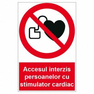 Sticker indicator Accesul interzis persoanelor cu stimulator cardiac