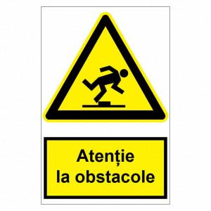 Sticker indicator Atentie la obstacole