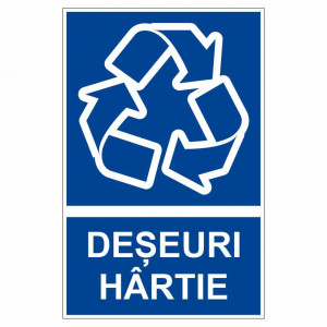 Sticker indicator Deseuri hartie