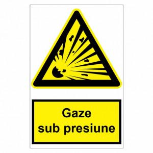 Sticker indicator Gaze sub presiune