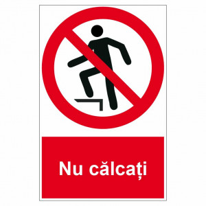 Sticker indicator Nu calcati
