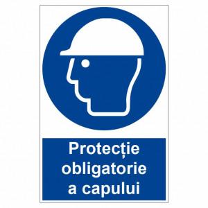 Sticker indicator Protectie obligatorie a capului
