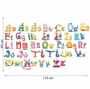 Sticker perete Alfabetul Vesel al limbii romane 4