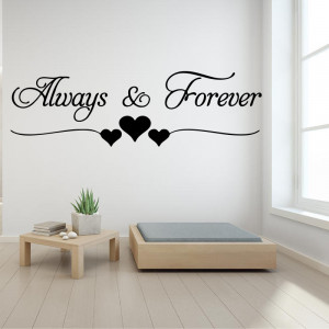 Sticker perete Always and Forever
