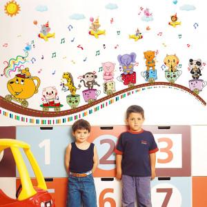 Sticker perete Animals Music Band