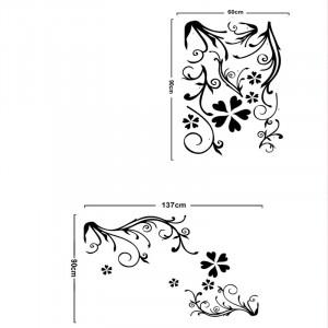 Sticker perete Black Flower Decor