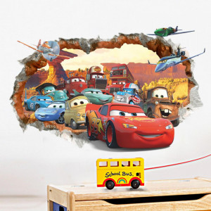 Sticker perete Cars 3D Disney 70 x 50 cm