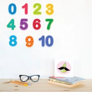 Sticker perete Cifre Colorate