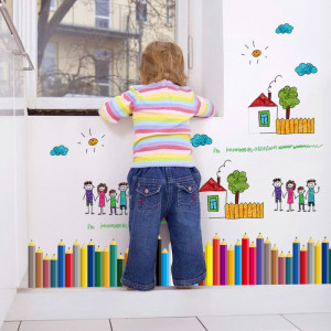 Sticker perete Color your world