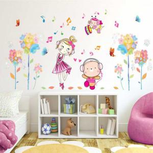 Sticker perete Dansatorii Veseli