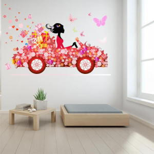 Sticker perete Flower Car