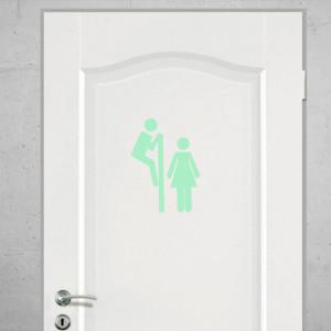 Sticker perete Glow in the Dark Toilet