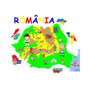 Sticker perete Harta Romaniei