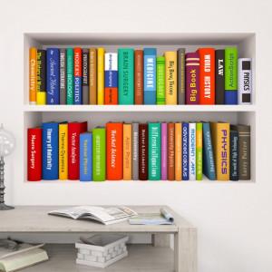 Sticker perete Library 3D 30 x 90 cm set 2 buc
